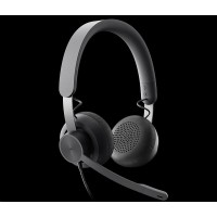 Logitech sluchátka s mikrofonem Zone Wired Teams Headset Graphite - EMEA