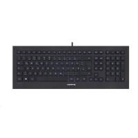 CHERRY klávesnice STRAIT BLACK 3.0, USB, EU, černá