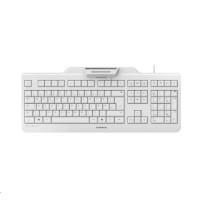 CHERRY klávesnice se čtečkou karet SECURE BOARD 1.0, USB, EU, světle šedá