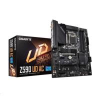 GIGABYTE MB Sc LGA1200 Z590 UD AC, Intel Z590, 4xDDR4, 1xDP, WI-FI