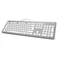 Hama klávesnica KC-700, strieborná/biela