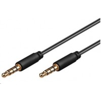 PREMIUMCORD Kabel Jack 3.5mm 4 pinový M/M 1m pro Apple iPhone, iPad, iPod