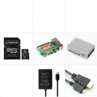 Raspberry Sada Pi 4B/8GB, (SDXC karta 128GB, Pi4 Model B, krabička, HDMI kabel, napájecí zdroj)