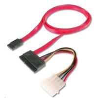 PREMIUMCORD kabel SATA datový + napájecí 0.5m