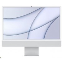 APPLE 24-inch iMac with Retina 4.5K display: M1chip with 8-core CPU and 8-core GPU, 256GB - Silver