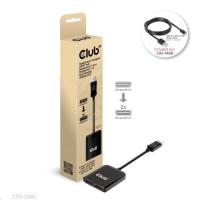 Club3D Video hub MST (Multi Stream Transport) DisplayPort 1.4 na DisplayPort 1.4 Dual Monitor 4K60Hz (M/F), černá