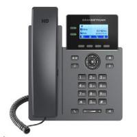 """Grandstream GRP2602P [VoIP telefon - 2.21"""" 132 x 48 grafický, 4x SIP účet, 2x RJ45 10/100 Mbps, PoE]"""