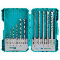 Total TACSDL31101 Vrtáky a sekáče do betonu, 11ks, industrial