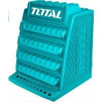 Total TAKD2688 Skříňka na vrtáky, rozměry 340x320x430mm, 4 poschodí, 8 přihrádek na každém poschodí