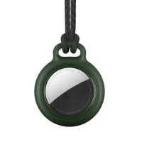 RhinoTech uzamykatelné pouzdro s poutkem pro Apple AirTag tmavě zelená