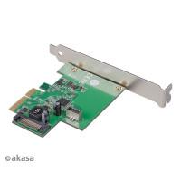 AKASA siťová karta USB 3.2 HOST card, 10Gbps USB 3.2 Gen 2, Interní, 20-pin, PCIe
