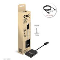 Club3D hub MST (Multi Stream Transport) DisplayPort 1.4 na 2xHDMI Dual Monitor 4K60Hz (M/F)