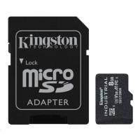 Kingston 8GB microSDHC Industrial C10 A1 pSLC Card + SD Adapter