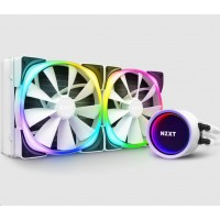 NZXT vodní chladič Kraken X63 RGB / 2x 140mm fan / LGA 2066/2011(-3)/1366/1156/1155/1151/1150/AM4/ bílá