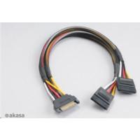AKASA kabel  SATA rozdvojka napájení, 30cm, 2ks v balení