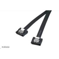 AKASA kabel  Super slim SATA3 datový kabel k HDD,SSD a optickým mechanikám, černý, 50cm, 2ks v balení