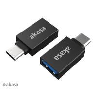 AKASA adaptér USB3.1 Gen2 Type-A na Type-C (F/M), 2ks v balení
