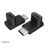 AKASA adaptér USB3.1 Gen2 Type-C na Type-C, 2ks v balení