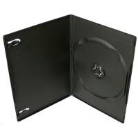 PP box  1DVD čierny slim (7mm) 100 ks/bal