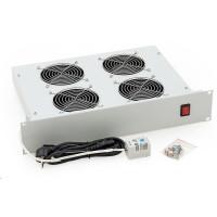 """TRITON 19"""" ventilační jednotka, 4 vent.-230V/140W, termost.,černá,mezi komponenty"""