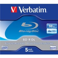 VERBATIM BD-R(5-pack)/DualLayer/Jewel/6X/50GB