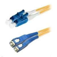 Duplexní kabel 9/125, LC-SC, LS0H (LSZH), 1m