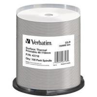 VERBATIM CD-R(100-Pack)Spindle/AZO/52x/700MB/Thermal Printable No ID Brand