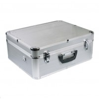 Doerr Kufr SILVER 50  (49,5x19,5x39,5 cm, hliník, 4,1 kg, molitanová výplň, stříbrný)