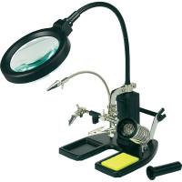 CONRAD Stolní LED světelná lupa Toolcraft s třetí rukou, 7,5 W