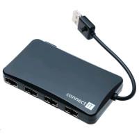 CONNECT IT USB 2.0 hub REVERSE se 4 oboustrannými porty