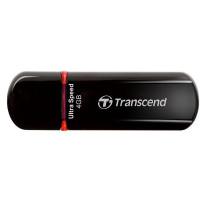 TRANSCEND USB Flash Disk JetFlash®600, 4GB, USB 2.0, Black/Red (R/W 20/10 MB/s)