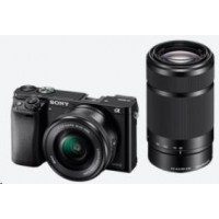 SONY Alfa6000 fotoaparát, 24.3MPix + 16-50mm + 55-210mm - černý