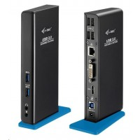 iTec USB 3.0 Dual Video DVI HDMI Docking Station + Glan + Audio + USB 3.0 Hub