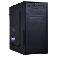 EUROCASE skříň MC X201 black, micro tower, 2x USB, 2x audio, bez zdroje