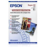 EPSON Paper A3 - Premium Semigloss Photo Paper, DIN A3+, 250g/m2, 20 Sheets