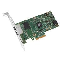 Intel I350T2v2 Server Adapter Gb Cat-5 cabling, PCIe x4 (I350T2V2BLK) Full i Low p.