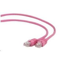 GEMBIRD Patch kabel CAT6 stíněný FTP 1m, růžový