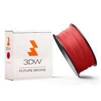 3DW - ABS filament pre 3D tlačiarne, priemer struny 1,75mm, farba červená, váha 1kg, teplota tisku 220-250°C