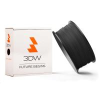 3DW - ABS filament pre 3D tlačiarne, priemer struny 1,75mm, farba čierná, váha 1kg, teplota tisku 220-250°C