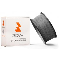 3DW - PLA filament pre 3D tlačiarne, priemer struny 1,75mm, farba strieborná, váha 1kg, teplota tisku 190-210°C