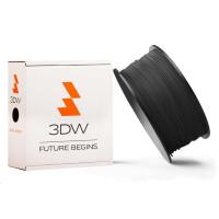 3DW - PLA filament pre 3D tlačiarne, priemer struny 1,75mm, farba čierná, váha 1kg, teplota tisku 190-210°C
