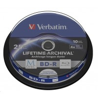 VERBATIM MDisc BD-R(10-pack)Spindle/4x/25GB