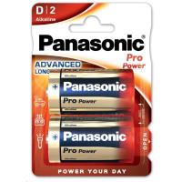 PANASONIC Alkalické baterie - Pro Power D 1,5V balení - 2ks