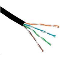 UTP kabel Elite, 4páry, Cat6, drát, venkovní PE, 305m cívka