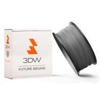 3DW - PLA  filament pre 3D tlačiarne, priemer struny 1,75mm, farba strieborná, váha 0,5kg, teplota tisku 190-210°C