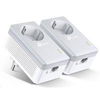TP-Link TL-PA4010PKIT Starter Kit Powerline ethernet, průchozí zásuvka, AV500, 1x ethernet