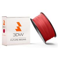 3DW - PLA  filament pre 3D tlačiarne, priemer struny 1,75mm, farba červená, váha 0,5kg, teplota tisku 190-210°C