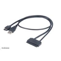 "AKASA HDD adaptér  Flexstor ESATA, 2,5"" SATA HDD/SSD na E-SATA, 40cm"