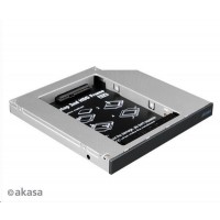 "AKASA HDD box  N.Stor S12, 2.5"" SATA HDD/SSD do pozice pro optickou mechaniku SATA (výška HDD do 13mm)"