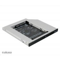 "AKASA HDD box  N.Stor S9, 2.5"" SATA HDD/SSD do pozice pro optickou mechaniku SATA (výška HDD do 9,5mm)"